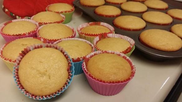 Eggless orange cupcake